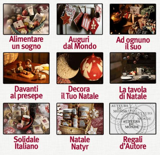 Clicca per vedere le idee regalo Altromercato 2014