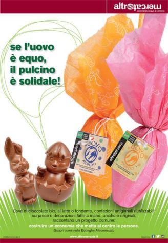 I BandaBiò Pulcino e leprotto di cioccolato Altromercato