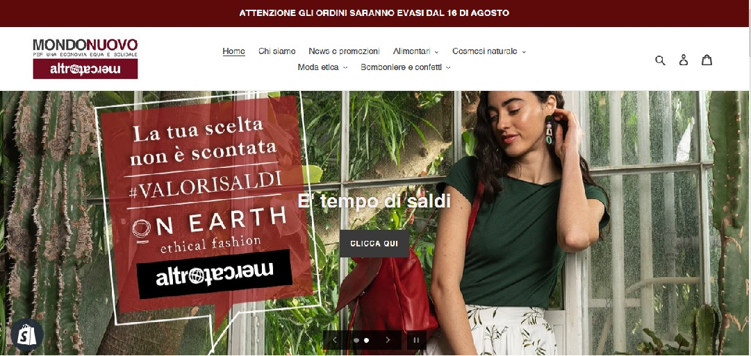 pagina home sito